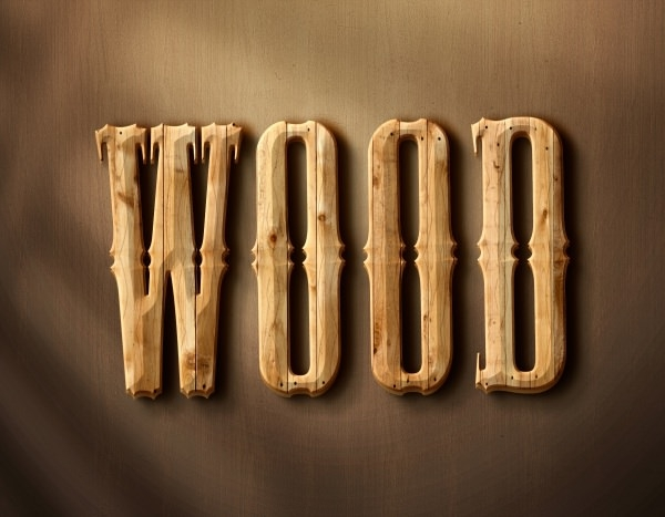 3D Wood Style Text Effect Free PSD