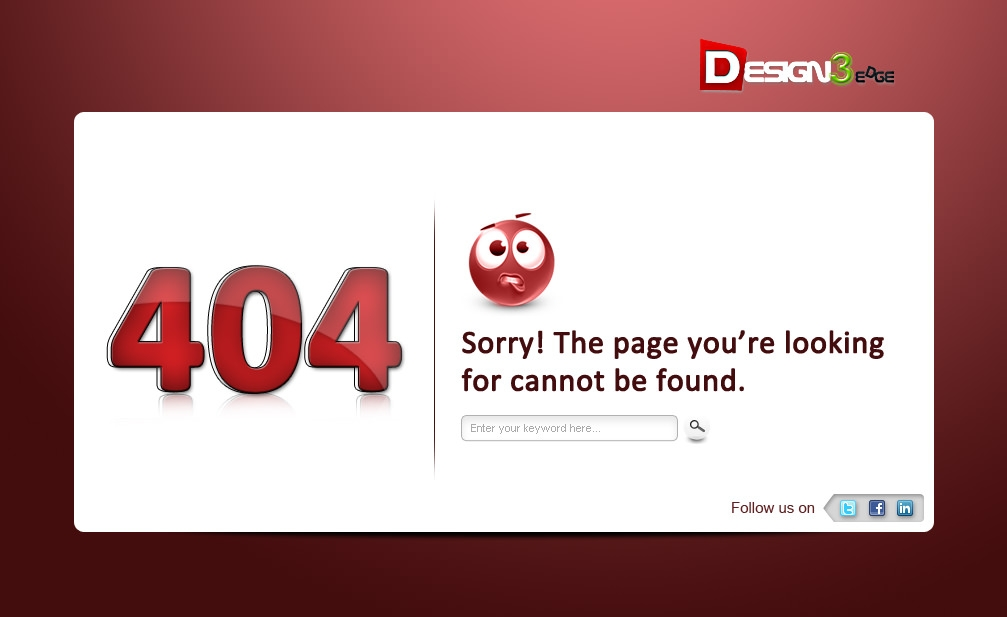 404 Page Not Found Template Design Free Download