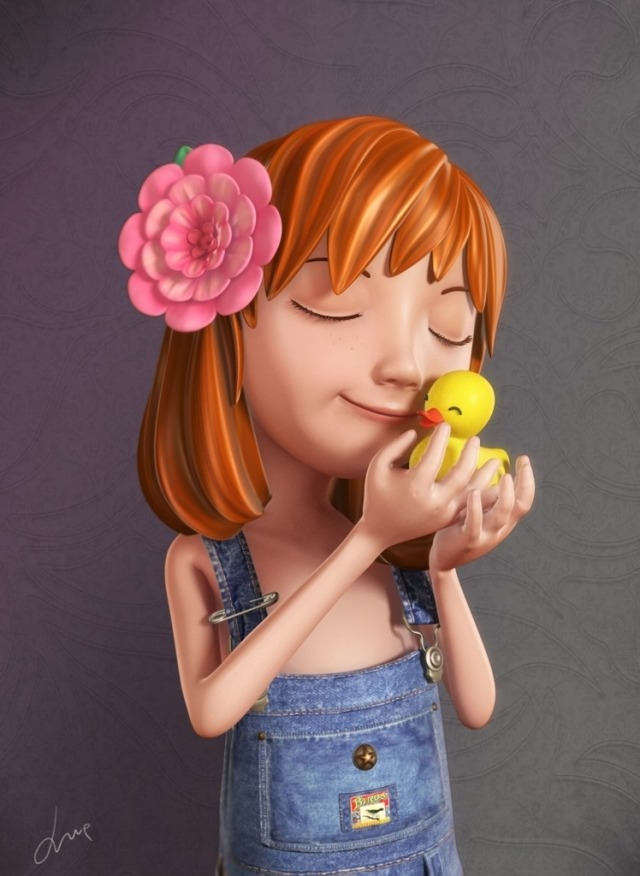 5-beautiful-girl-3d-cartoon-character
