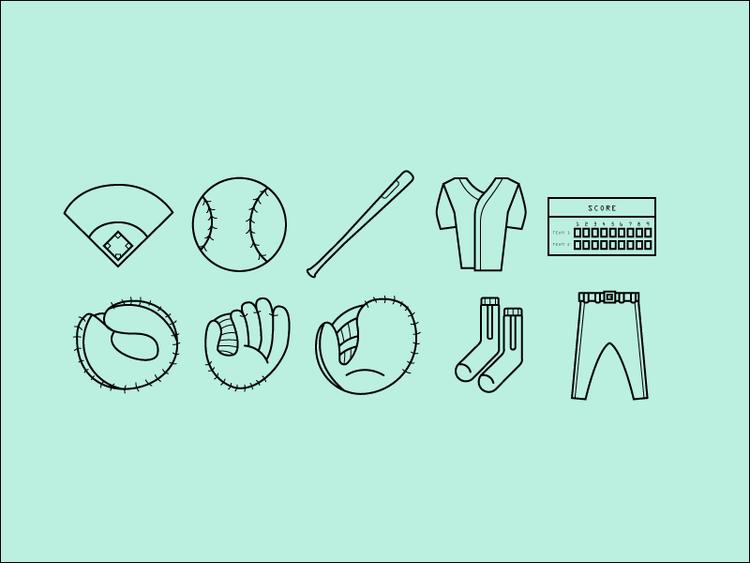 Baseball-Icons