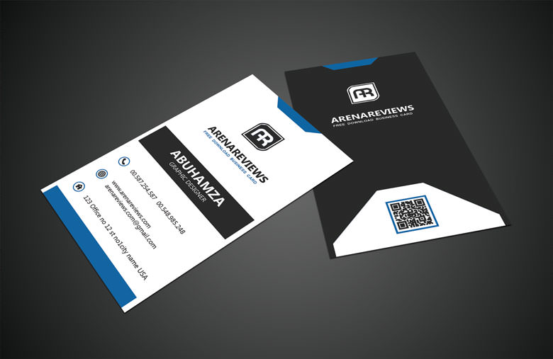 40 unique stylish psd corporate business card designs for free black white vertical business card standard template flashek Image collections