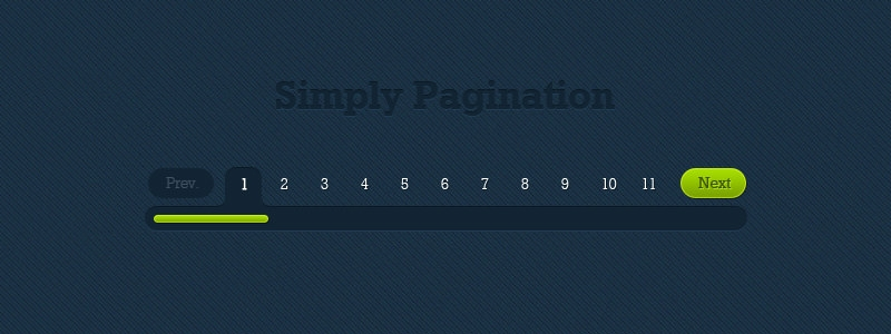 Blue and Green Pagination Design Free Download