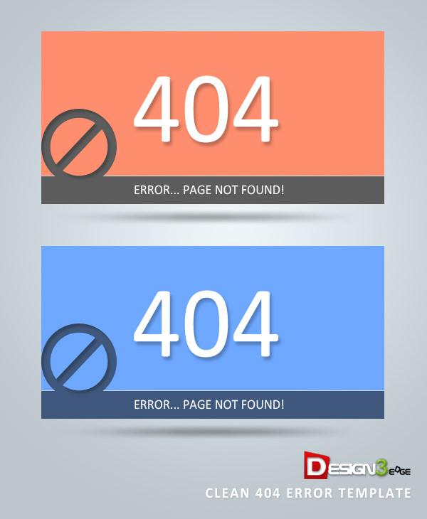 clean 404 error template design free download