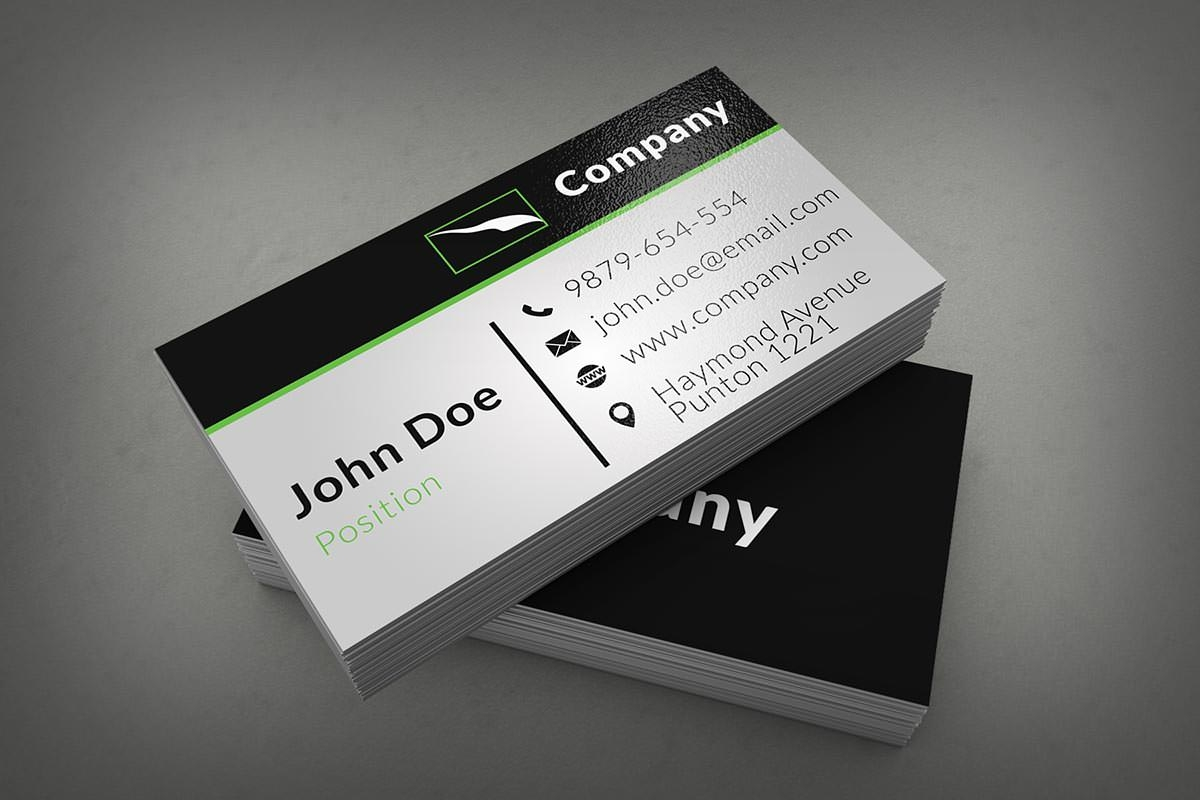 40 unique stylish psd corporate business card designs for free clean corporate business card template reheart Gallery