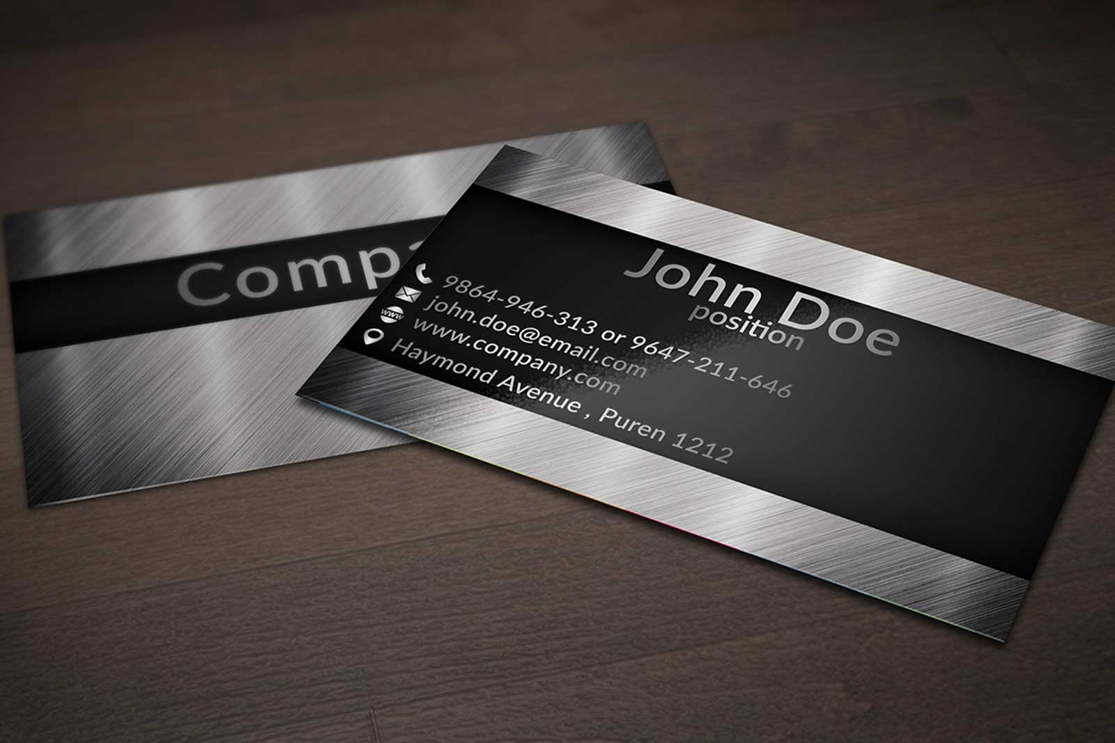 Unique Stylish PSD Corporate Business Card Designs For Free - Free business card design templates