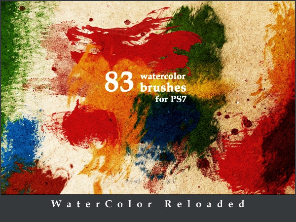 Download 83 Free Water Colour Photoshop Brushes