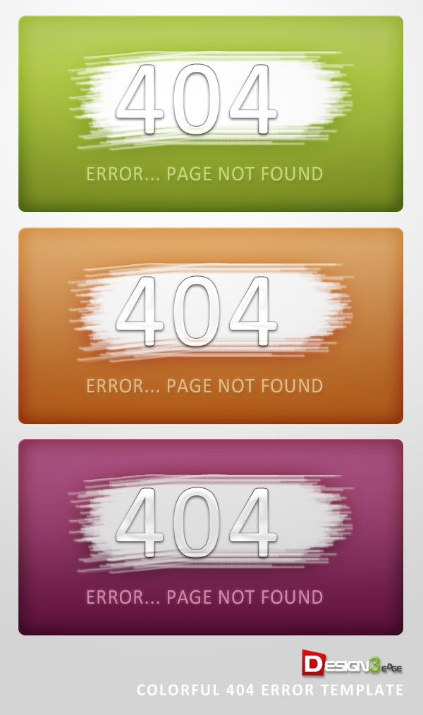 Download Colourful 404 Page Not Found Template