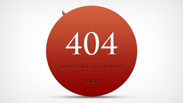 Download Free 404 Page Not Found Template