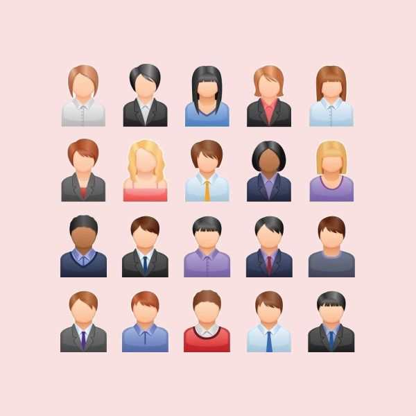 Download Free Business User Avatars Set
