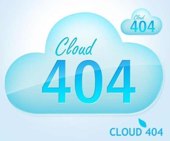 download free cloud 404 error page template
