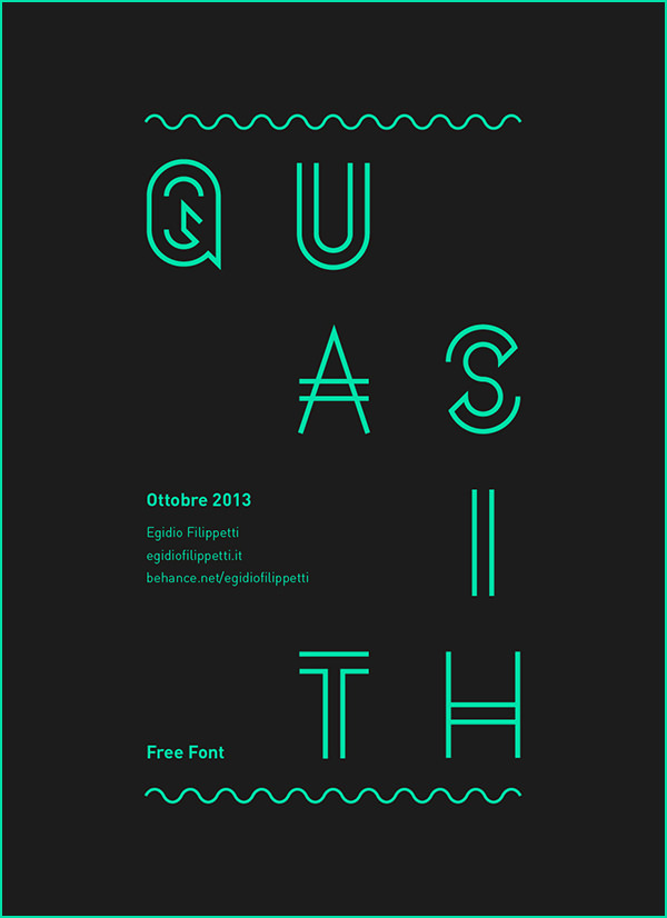 Download Free Quasith Font for Typography Designing