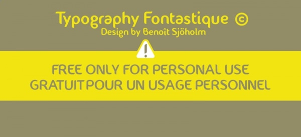 Download Free Typography Fontastique Font for Designing