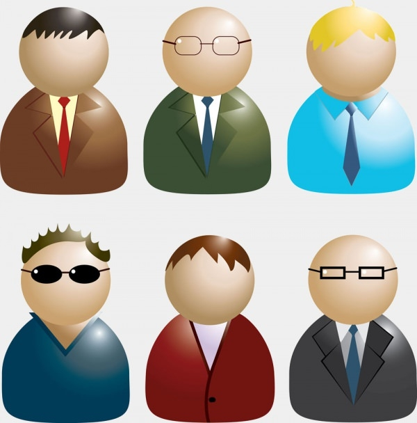 Download Free Vector Business Men Avatars