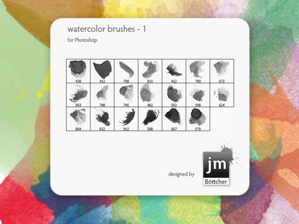 Download Free Water Colour Photoshop Brushes