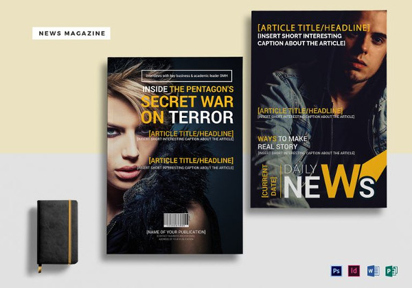 Easy to Edit News Magazine Template