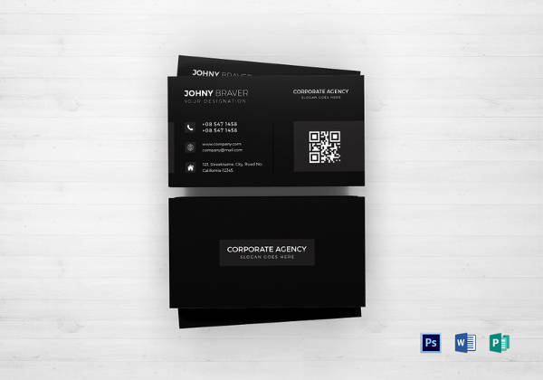 Editable Corporate Agency Business Card Template