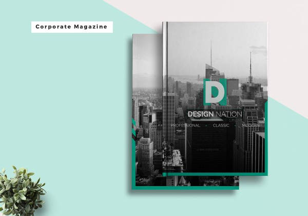 Editable Corporate Magazine Template