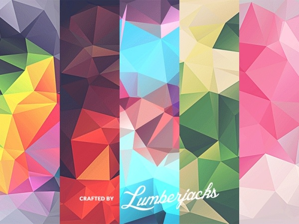 free 10 low poly polygonal textures