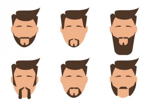 Flat User Face People Avatars for Free Download