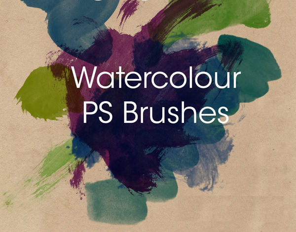 Free Water Colour Photoshop Brush Set
