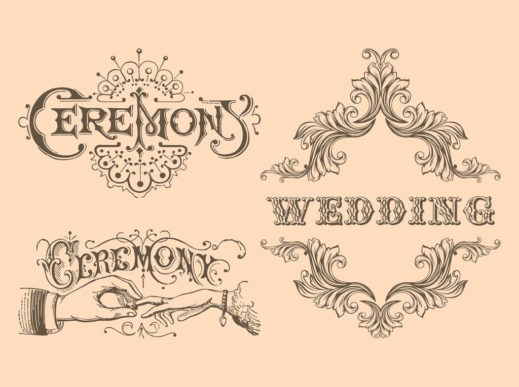 Retro-Wedding-Vectors