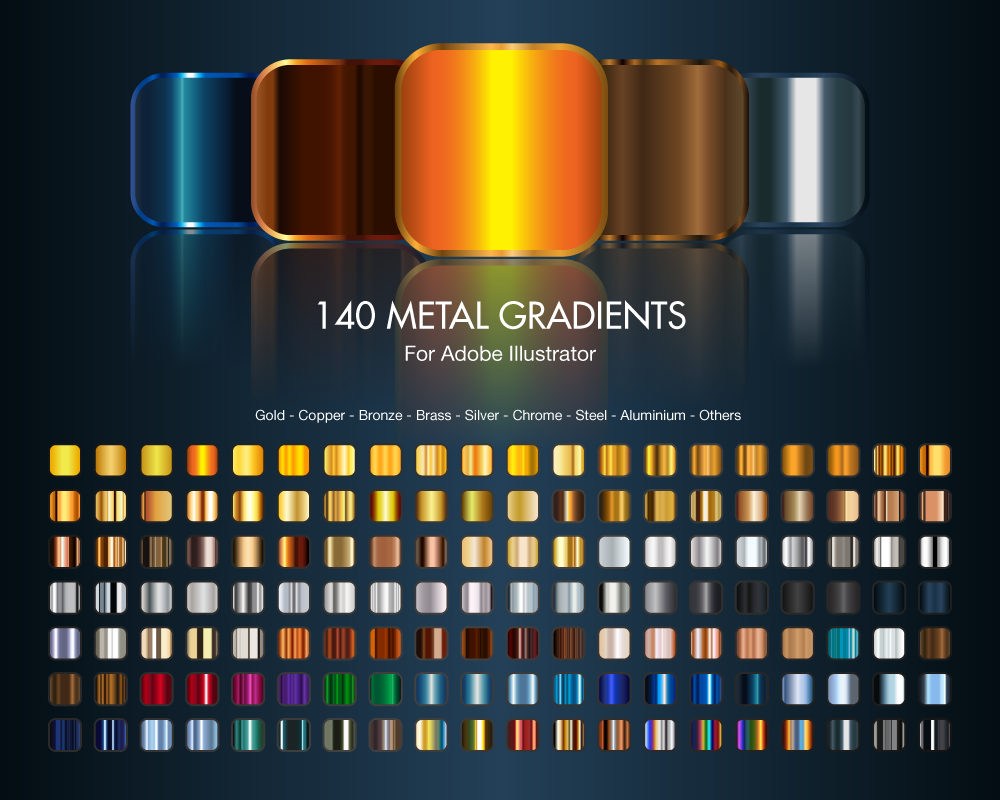 890+ free metal gradients for photshop.