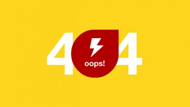 Oops 404 Error Page Template Free Download