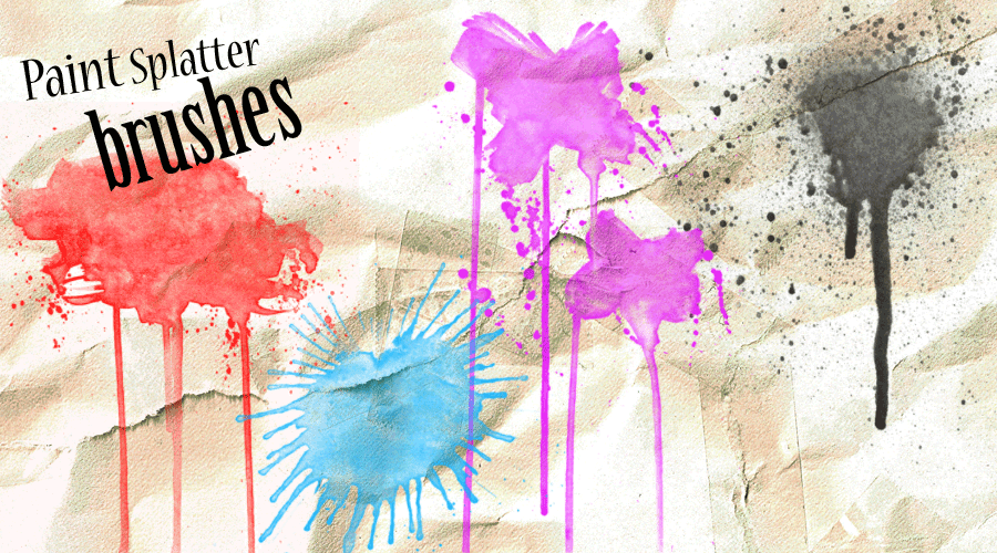 170+ Amazing Paint Splatter Brushes For Photoshop Free Download