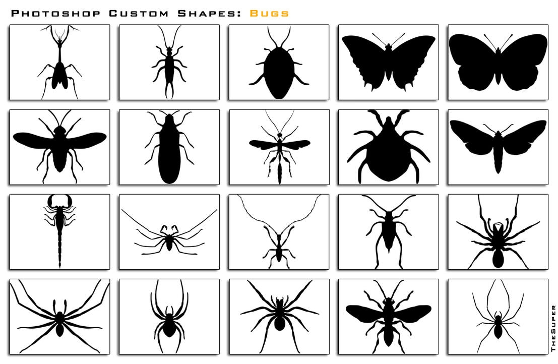 Photoshop_Custom_Shapes_Bugs_by_thesuper