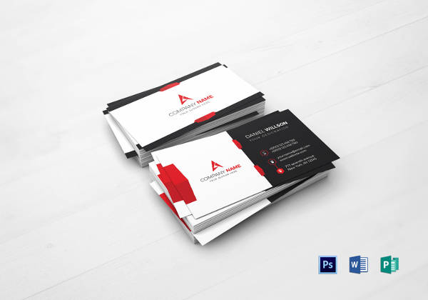Printable Corporate Business Card Template