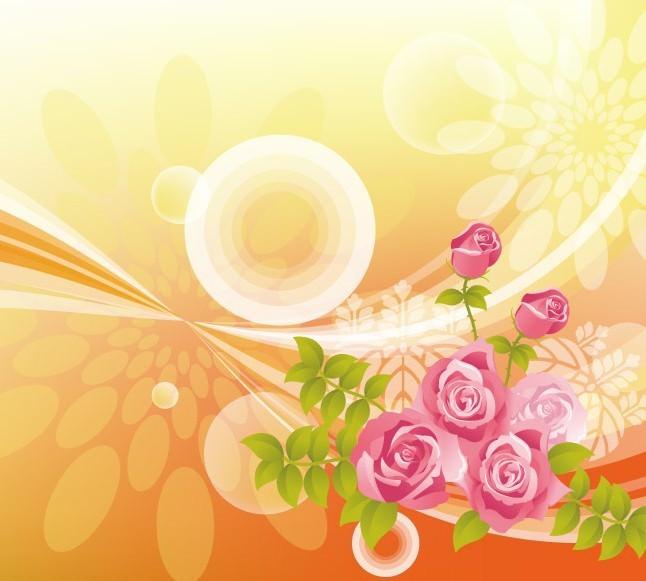 Retro-Roses-Vector-Background