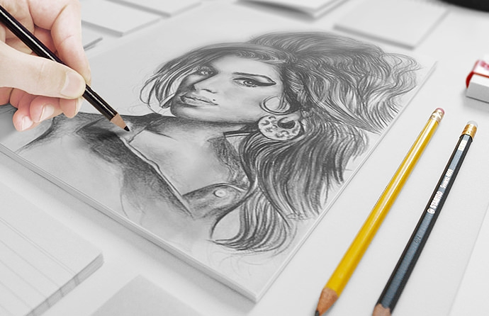 21 fantastic psd hand drawn sketch book mockups for free for Sketch online free