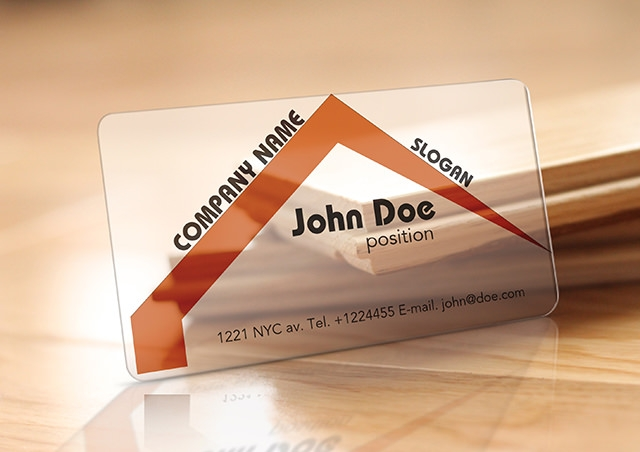 Translucent-Plastic-Realtor-Business-Card-Free-Template