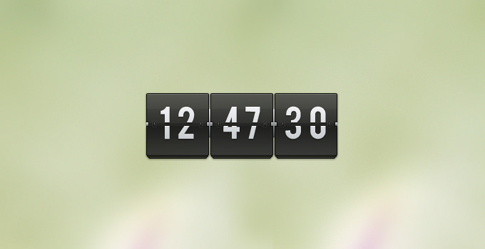 Transparent-flip-clock_preview