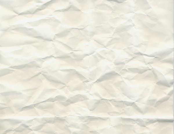 white crumpled paper texture stock
