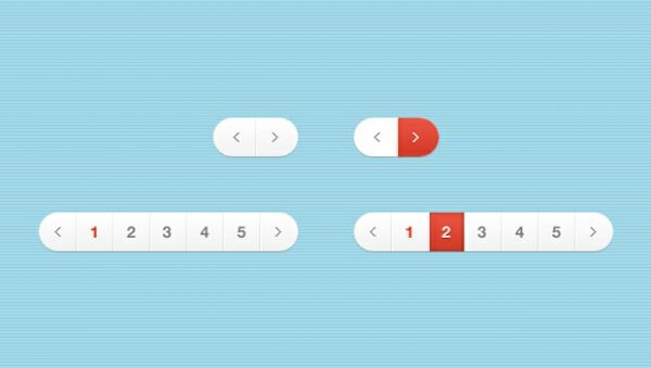 White and Red Pagination Free Download