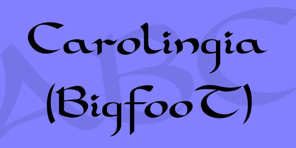 carolingia-bigfoot-font-4-big