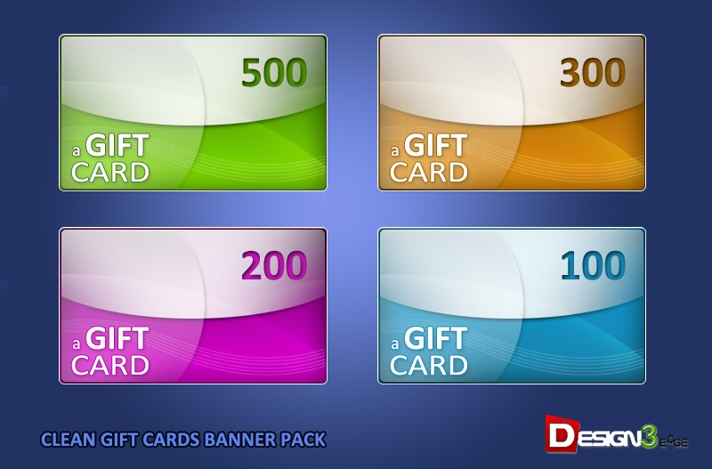 clean gift cards banner pack demo
