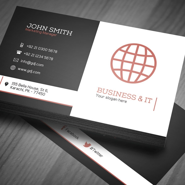40 unique stylish psd corporate business card designs for free corporate business card template preview 1 wajeb Images