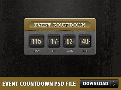 countdown flip clock
