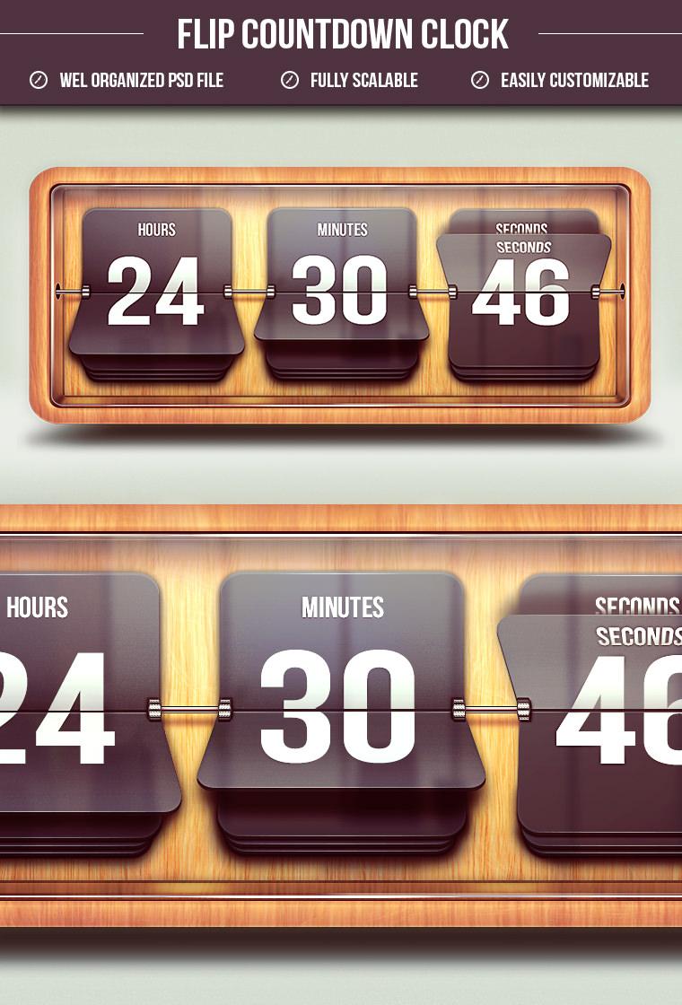 15 Free Countdown Flip Clock PSD | Free & Premium Creatives