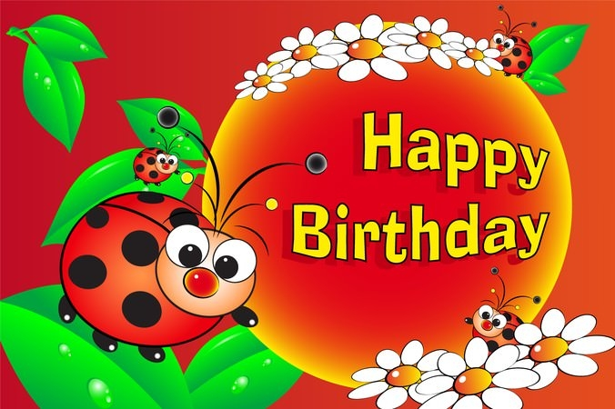 cute birthday greeting map vector 4266