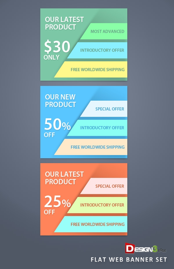 flat-web-banner-set-demo