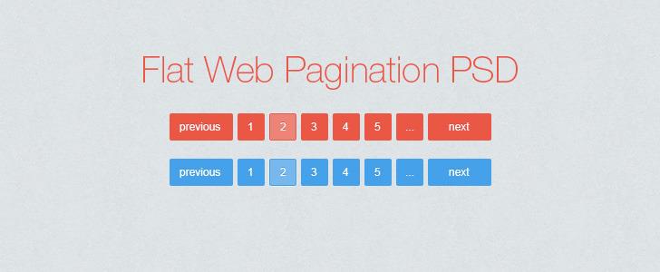 flat web pagination