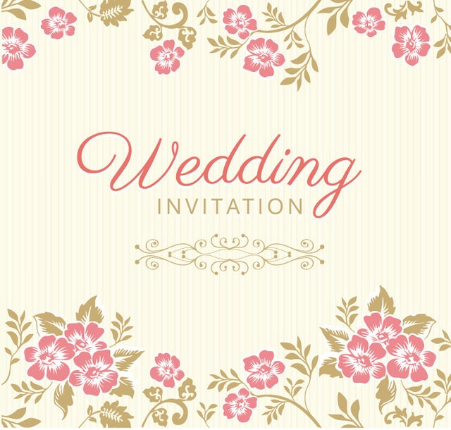10 Free Vector PSD Floristic Wedding Invitation Card Designs Free