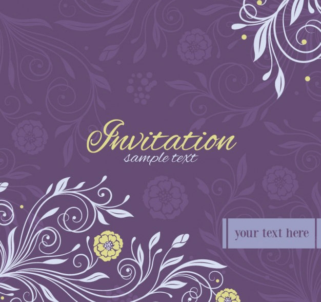 10 free vector psd floristic wedding invitation card designs free free floral vector wedding invitation stopboris Choice Image