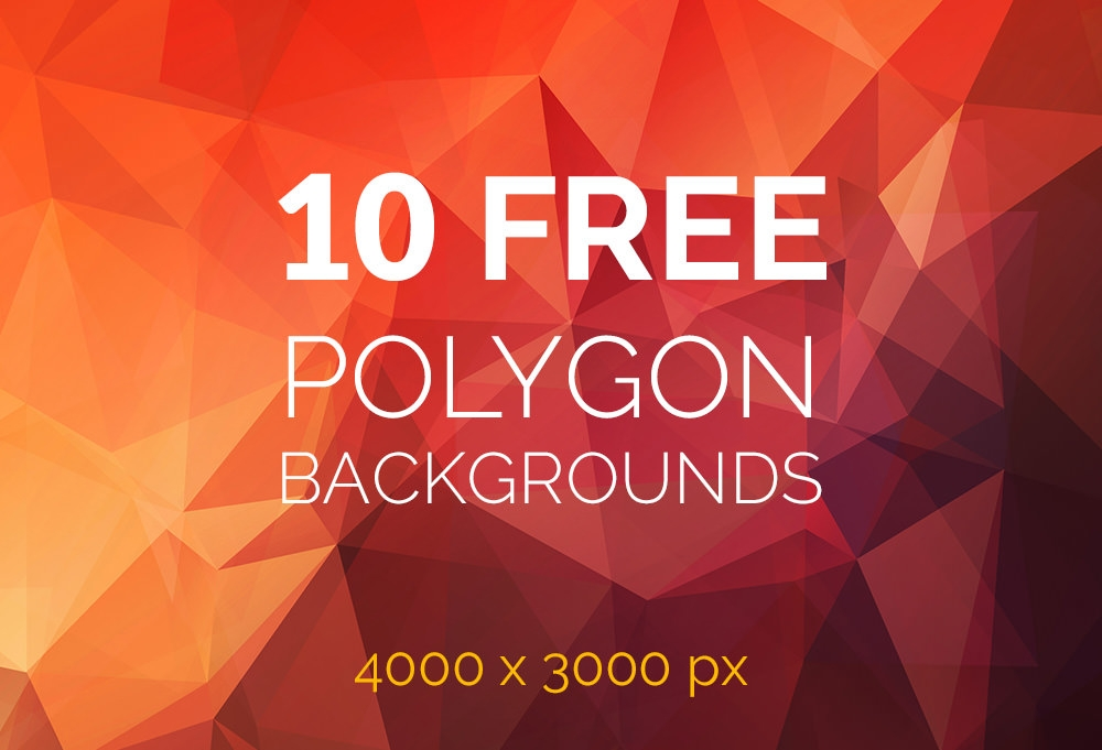 free polygon backgrounds featured
