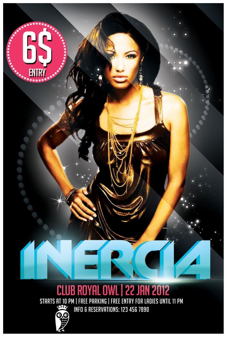 free psd inercia party flyer