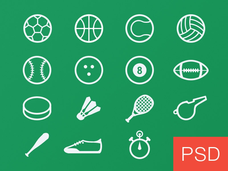 free sport icon set 01
