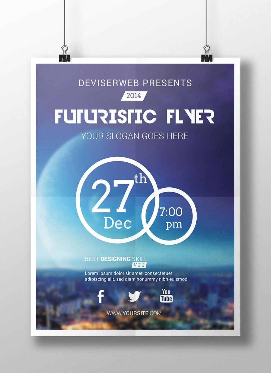 party flyer designs psd vector eps jpg futuristic flyer